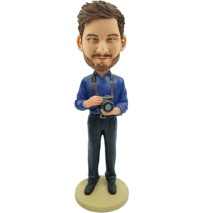 Personalized Photographer Bobble Head