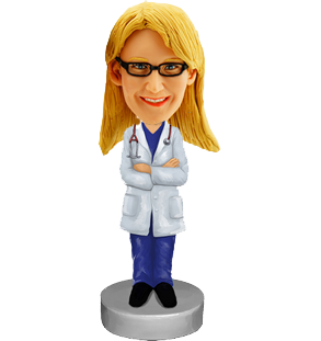 Personalized Bobblehead of Doctor in Lab Coat
