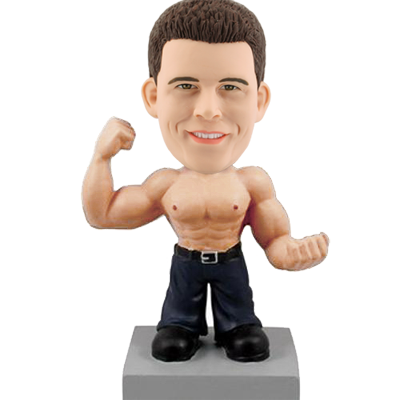 Muscular Man Personalized Bobble Head