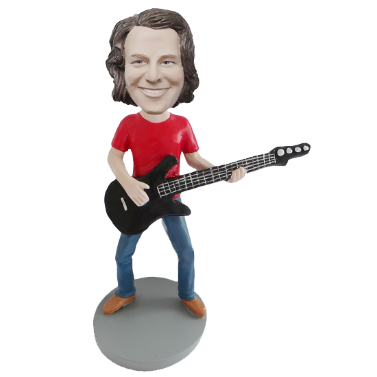 Bass Guitar Player Custom Bobblehead
