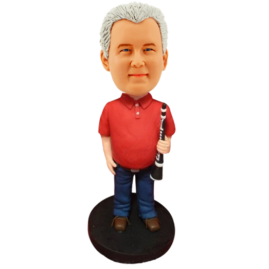 Clarinet Player Personalized Bobble Head