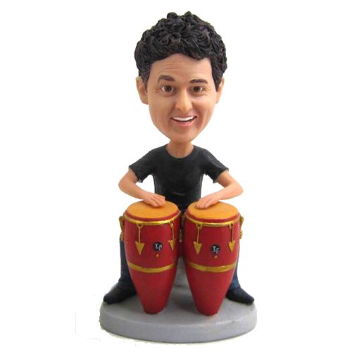 Customized Conga Drummer Bobblehead