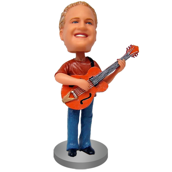 Personalized Guitarist Bobblehead