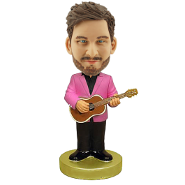 Acoustic Guitar Player Customized Bobble Head