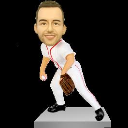 Baseball Pitcher Custom Bobble Head