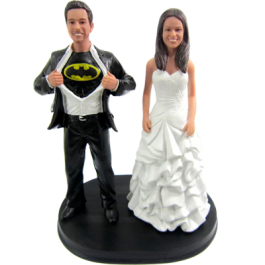 Custom Batman Theme Wedding Cake Topper