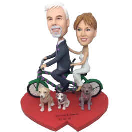 Bycicle Couple Wedding Bobbleheads