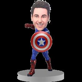 Personalized Captain America Bobble Head