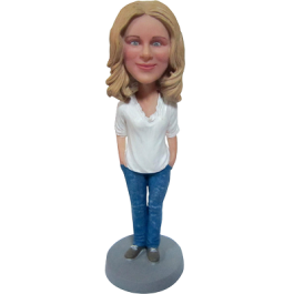 Casual Lady Custom Bobbble Head