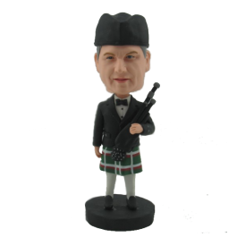 Customized Bagpipe Player Bobblehead