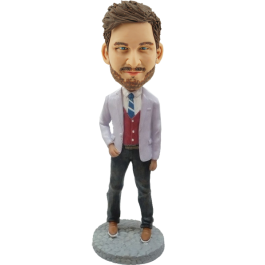 Personalized Stylish Man Bobble Head