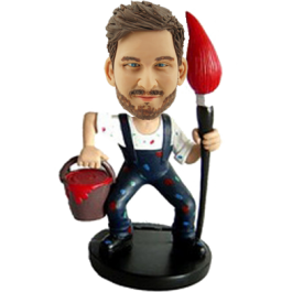 All the painters love to have a funny and unique gift as his birthday or Christmas keepsake. This artist bobble head is perfect gift to satisfy him.