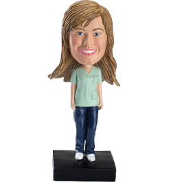 Personalized Female Nurse Bobble Head