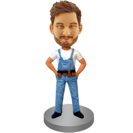 Bobblehead of Technician in Overall