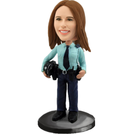 Personalized Policewoman Bobblehead