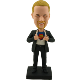 Personalized Clark Kent Bobble Head
