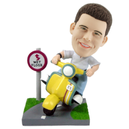 Custom City Scooter Bobblehead