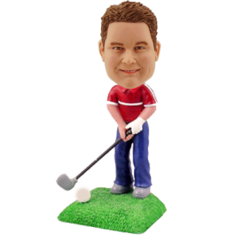 Custom Golfing Buddy Bobblehead