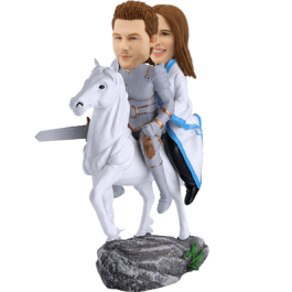 Custom Hero and Beauty Bobble head