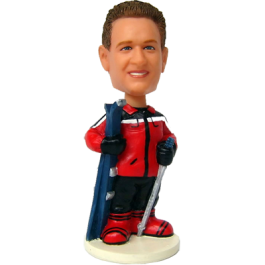 Custom Skiing Bobble Head