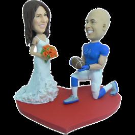 Football Player Wedding