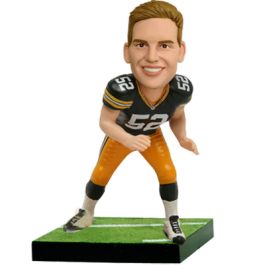 Green Bay Football Player Custom Bobblehead