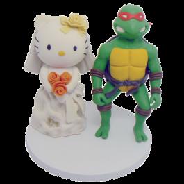 Hello Kitty and Ninja Turtles