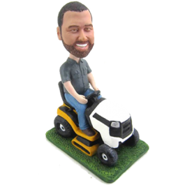 Man Riding Mower