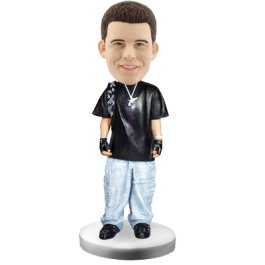 Personalized Bobblehead Hiphop Boy