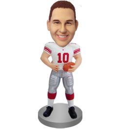 Personalized Football Player Bobble Head