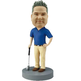 Personalized Golfer Bobble Head