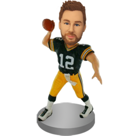 Personalized Green Jersey Football Bobblehead