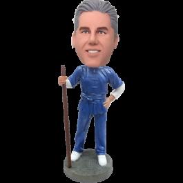 Personalized Kungfu Man Bobblehead