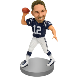 Personalized Male Football Bobblehead
