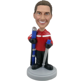 Personalized Skiing Bobblehead