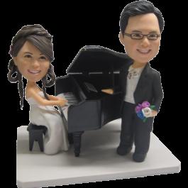 Piano Couple Bobbleheads