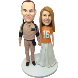 Traveler and Football Fan Bobbleheads