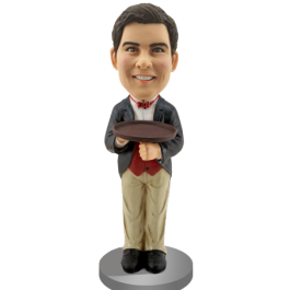 Custom Bobble Head for Waiter