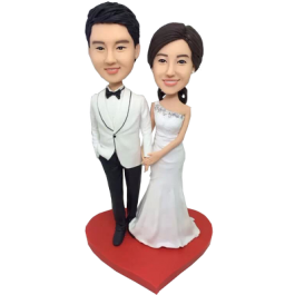 Young Couple Wedding Cake Topper
