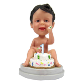 1st Year Birthday Bobble Head Cake Topper
