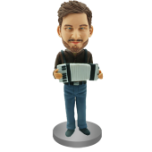 Custom Accordionist Bobblehead