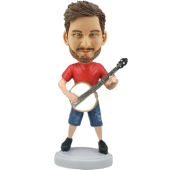 Banjo Player Customized Bobblehead
