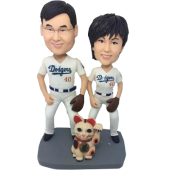 Basketball Couple Bobbleheads