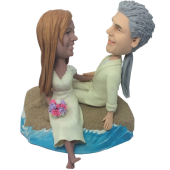 Beach Wedding Couple Bobbleheads