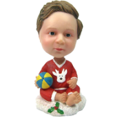 Personalized Christmas Bobble Head for Baby