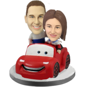 Couple in Car Custom Bobble Heads