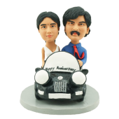 Couple in Car Custom Bobbles