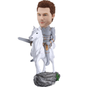 Knight on Horse Customized Bobble Head