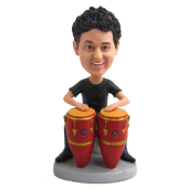 Customized Conga Drummer Bobblehead