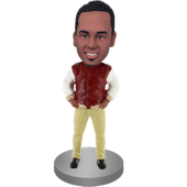 Custom Casual Football Fan Bobble Head